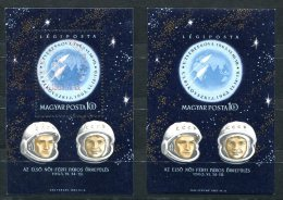 1976 - UNGARN - Block 38 A Gestempelt Und Block 38 B In Postfrisch (Weltraum) - HUNGARY, 2 Mini Sheets SPACE - Space