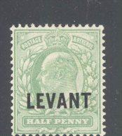 BRITISH LEVANT, 1905 ½d Pale Yell-grn Very Fine Light MM, SG8.50 - Levant Britannique