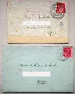 1943 Deux Lettres écrites Par Un Jeune Homme à Ses Parents Partant Combattre Avec L´Allemagne Nazie Collaboration Guerre - Historical Documents