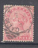 INDIA, 1882 9Ps Rose (SG 86) VFU - 1882-1901 Empire