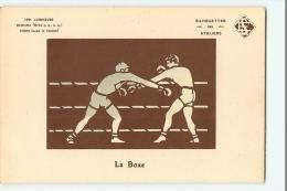La BOXE - Carte à Système - Carte Lumineuse - Silhouettes Des Ateliers -  2 Scans - Boxe