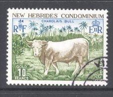 NEW HEBRIDES (inscribed In English), 1975 10 Franc Bull VFU , Cat £22