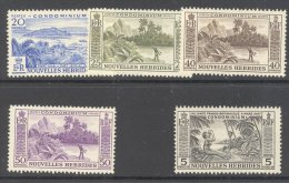 NEW HEBRIDES (inscribed In French), 1957 Selection To 5 Franc UM (MNH), Cat £37