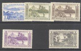 NEW HEBRIDES (inscribed In French), 1957 Selection To 5 Franc UM (MNH), Cat £37 - Franse Legende