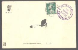 21 CPA - Meeting  DIJON-AVIATION - 22/25 Septembre 1910 - Simon Sur Monoplan BLERIOT - Meetings