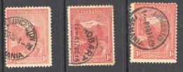 TASMANIA, 1905 1d (typo, Wmk Crown Over A, P11 Various Shades) VFU, Cat £6 - Gebraucht