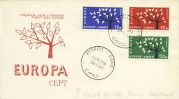 FDC Cyprus - 1963 - Met Adres / Open Klep - Europa-CEPT