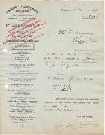 41 FRETEVAL ST OUEN VENDOME  COURRIER 1926 * FONDERIES EMAILLERIES P. GENEVEE  * S11 - France