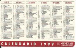 CAL518 - CALENDARIETTO 1999 - GENERALI - ASSICURAZIONI - Formato Piccolo : 1991-00