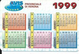 CAL521 - CALENDARIETTO 1999 - AVIS VERONA - Formato Piccolo : 1991-00