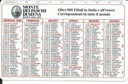 CAL525 - CALENDARIETTO 1999 - MONTE DEI PASCHI DI SIENA - Formato Piccolo : 1991-00