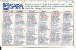 CAL532 - CALENDARIETTO 1999 - SARA ASSICURAZIONI - Formato Piccolo : 1991-00