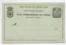 CONGO BELGE - CARTE ENTIER OBLITEREE De BANANA Avec CARTE REPONSE