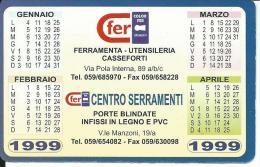 CAL545 - CALENDARIETTO 1999 - COLOR FER - Formato Piccolo : 1991-00