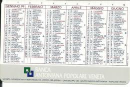 CAL546 - CALENDARIETTO 1999 - BANCA ANTONIANA POPOLARE VENETA - Formato Piccolo : 1991-00