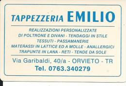 CAL548 - CALENDARIETTO 1999 - TAPPEZZERIA EMILIO - ORVIETO - Formato Piccolo : 1991-00