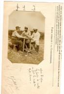 Guerre 1914 1918 : Mort - Homme  Photo , Une Partie De Cartes A Jouer - Otros Municipios