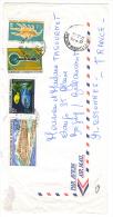VEND TIMBRES DE NOUVELLE - CALEDONIE N° 380 + 383 + PA 134 + PA 145 , SUR LETTRE !!!! - Covers & Documents