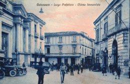 [DC7104] CATANZARO - LARGO PREFETTURA - CHIESA IMMACOLATA - Viaggiata 1927 - Old Postcard - Catanzaro