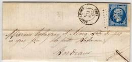 ROQUEFORT (40)  Lettre Avec PC  2724 Sur Yvert 14 II (Indice 6 ) (62462) - Marcophilie (Lettres)