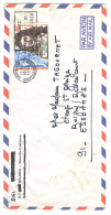 VEND TIMBRE DE NOUVELLE - CALEDONIE N° P.A. 138 , SUR LETTRE !!!! - Luftpost