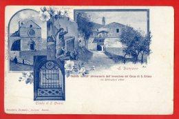 [DC7139] ASSISI - CHIESA SI S. CHIARA - TOMBA DI S. CHIARA - SAN DAMIANO - Viaggiata 1901 - Old Postcard - Italy