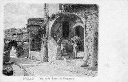 [DC7141] SPELLO (PERUGIA) - VIA DELLE TORRI DI PROPERZIO - Old Postcard - Italy