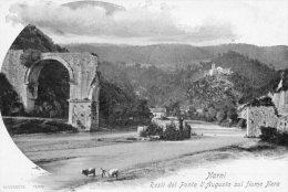 [DC7149] NARNI (TERNI) - RESTI DEL PONTE D'AUGUSTO SUL FIUME NERA - Old Postcard - Italy