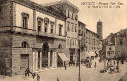 [DC7159] ORVIETO (TERNI) - PIAZZA VITTORIO EMANUELE - IN FONDO LA TORRE DEL MORO - Old Postcard - Italy