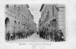 [DC7161] SPOLETO (PERUGIA) - CORSO VITTORIO EMANUELE - Old Postcard - Italy