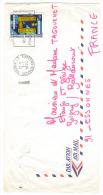 VEND TIMBRE DE NOUVELLE - CALEDONIE N° P.A. 143 , SUR LETTRE !!!! - Briefe U. Dokumente