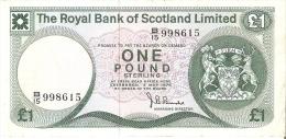 BILLETE DE ESCOCIA DE 1 POUND DEL AÑO 1976  (BANKNOTE) - [ 3] Escocia