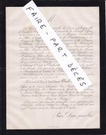 Faire-part Décès M. Le Vicomte Louis Edouard CLEREL DE TOCQUEVILLE, Château De Baugy; 1874 - Esquela