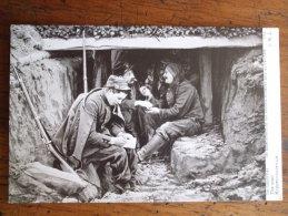 ALB1-  GUERRE 1914 - LE COURRIER - LES APPARTEMENTS DE NOS VAILLANTS MILITAIRES DANS LES TRANCHEES - Guerre 1914-18