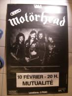 MUSIQUE - MOTÖRHEAD - GRANDE AFFICHE CONCERT - PARIS MUTUALITE 10 FEV. 1987 - 115x78cm - Affiches & Posters