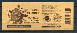 """Carnet Marianne De Beaujard 4197-C13 """" Salon Du Timbre Parc Floral 2010 """" Neuf ** - Carnets"""