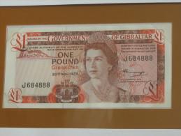 1 One Pound 1975 - GIBRALTAR - Billet Neuf - UNC -  !!!  **** EN  ACHAT IMMEDIAT  **** - Gibraltar