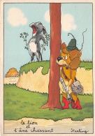 ¤¤  -  Fable De Jean De La Fontaine  -  Le Lion Et L'Ane Chassant  - Starling  -  Fumeur De Pipe  -  Barré Dayez   -  ¤¤ - Fairy Tales, Popular Stories & Legends