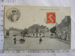 CPA (72) Sarthe - BRULON - Place De L'église - Brulon