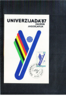 Yugoslawien / Yugoslavia / Yougoslavie 1987 Univerzijada Zagreb / University Games Kayak - Canoe  Maximumcard - Kanu