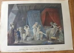 Planche Offerte Par La Source PERRIER La Femme Dans La Peinture Française - Le Lever Des Ouvrières Lavreince - Perrier