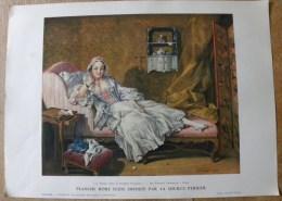 Planche Offerte Par La Source PERRIER La Femme Dans La Peinture Française - Portrait De Madame Boucher - Perrier