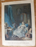 Planche Offerte Par La Source PERRIER La Femme Dans La Peinture Française - Baudouin La Lecture Interrompue - Perrier