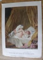 Planche Offerte Par La Source PERRIER La Femme Dans La Peinture Française - Fragonard La Gimblette - Perrier