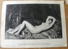 Planche Offerte Par La Source PERRIER La Femme Dans La Peinture Française - Nymphe Endormie Chassériau - Femme Nue - Perrier