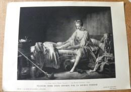 Planche Offerte Par La Source PERRIER La Femme Dans La Peinture Française - Le Lever De Fanchon Lépicié - Perrier