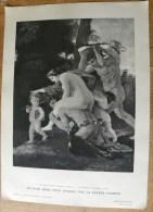 Planche Offerte Par La Source PERRIER La Femme Dans La Peinture Française Groupe Bachique Poussin Femme Nue - Perrier