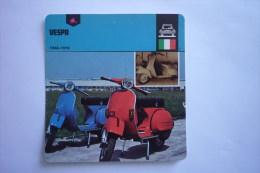 Sports Moto - Carte Fiche Moto - Vespa - 1946 - 1978 ( Description Au Dos De La Carte - Otros