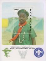 Scout, Scouting, Baden Powell, Scout Boy, MS MNH Tanzania - Scouting