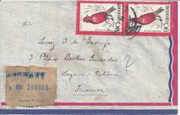 URUGUAY- 1963 - LETTRE RECOMMANDEE DE MONTEVIDEO A DESTINATION DE LYON - FR - - Uruguay